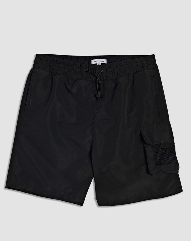 BELLFIELD MOZAMBIQUE MENS SWIM SHORTS | BLACK