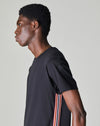BELLFIELD NESTER SHORT SLEEVE TAPED MENS T-SHIRT | BLACK