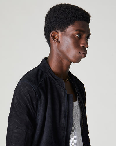 BELLFIELD PALIO SUEDE BOMBER MENS JACKET | BLACK