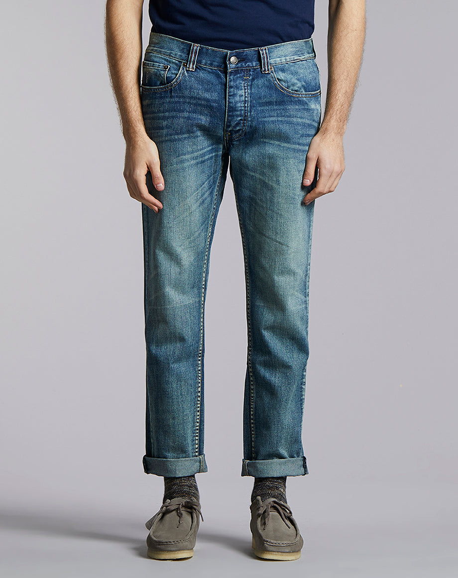 BELLFIELD PHOENIX SOLIS SLIM DENIM JEAN | LIGHT INDIGO WASH