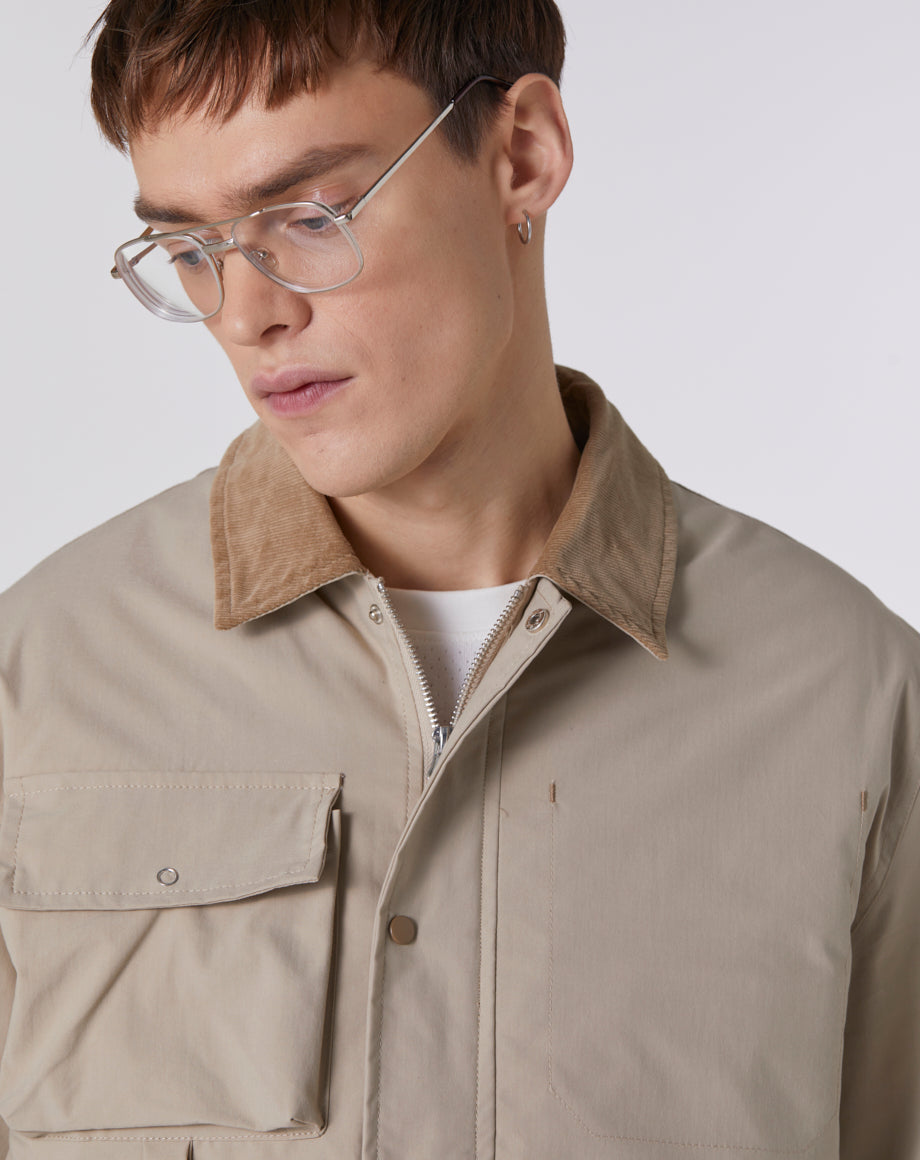 BELLFIELD PRETORIA LIGHTWEIGHT WORKER MEN'S JACKET | SANDALWOOD