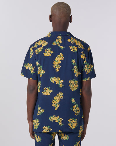 BELLFIELD RAMPUR FLORAL MEN'S SHIRT | NAVY