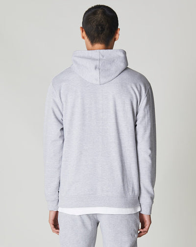 BELLFIELD SILAS MENS CUT AND SEW HOODIE | GREY