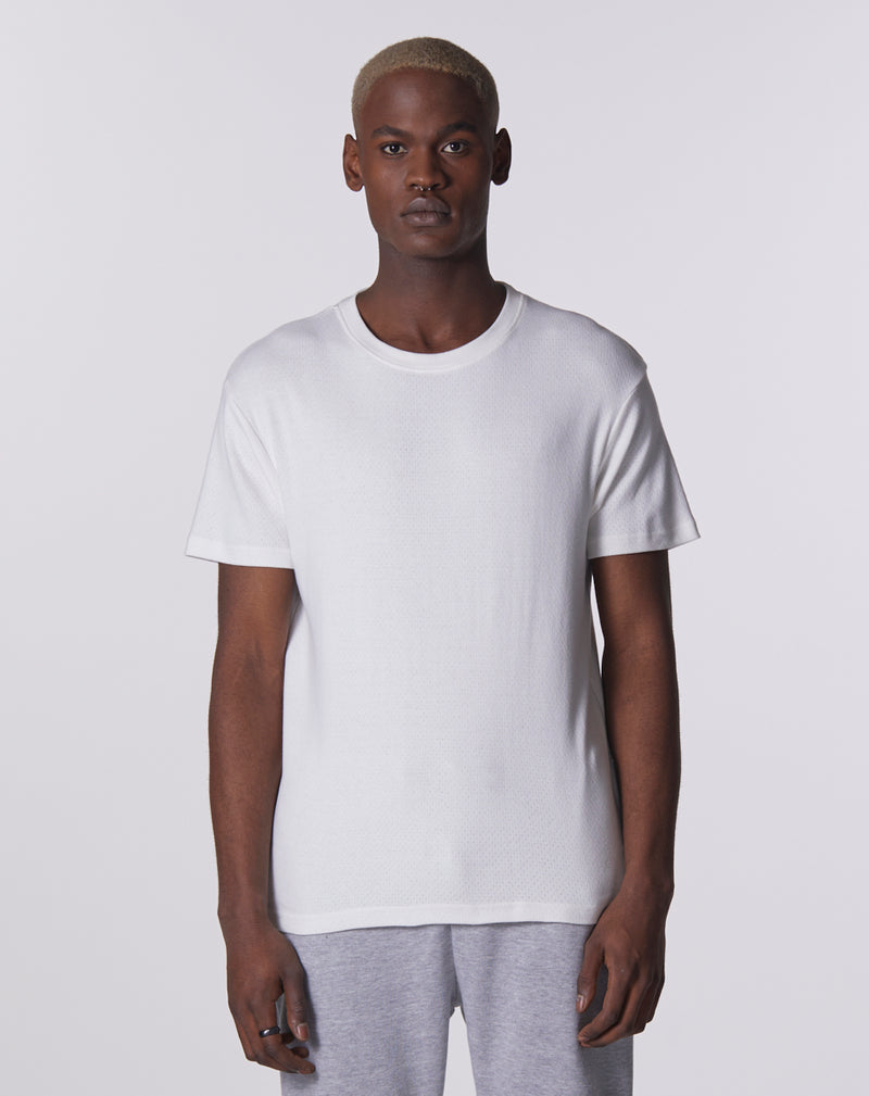 SINDRI JERSEY MESH MEN'S T-SHIRT | WHITE