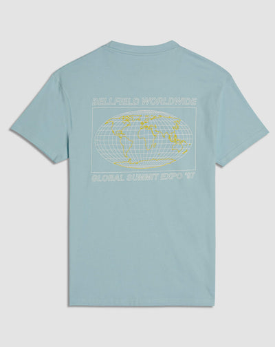 BELLFIELD EXPO PRINTED MEN'S T-SHIRT | PALE BLUE