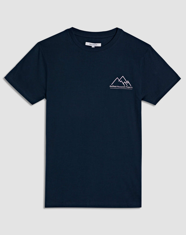 BELLFIELD TYCHON RESEARCH PROJECT PRINTED MEN'S T-SHIRT | NAVY