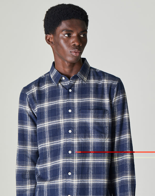 BELLFIELD VALLEGRANDE LONG SLEEVE CHECK MEN'S SHIRT | NAVY