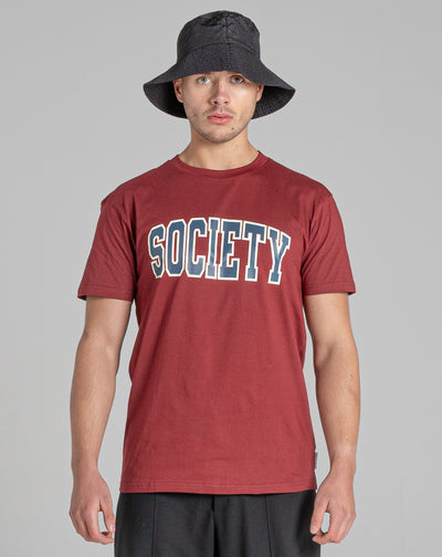 BELLFIELD ELEK MEN'S T-SHIRT | DARK CHERRY