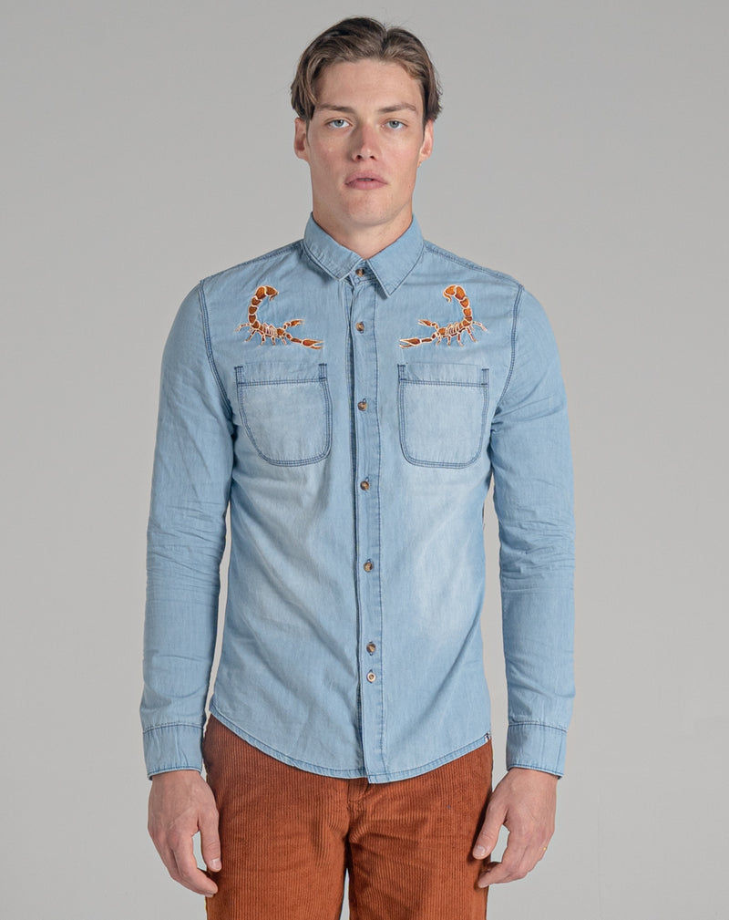 BELLFIELD PAYOTE MEN'S SHIRT | STONE WASH