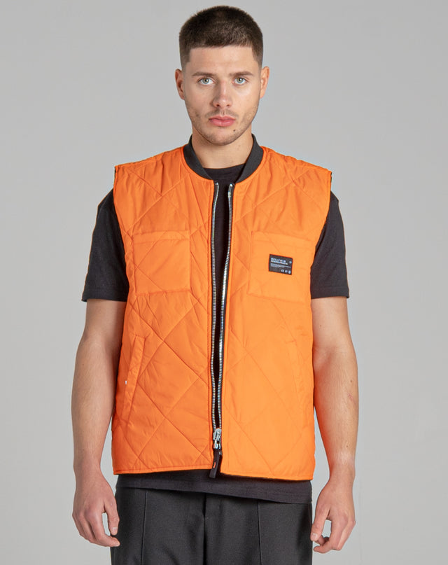 BELLFIELD TROY REVERSIBLE MEN'S GILET | BLACK