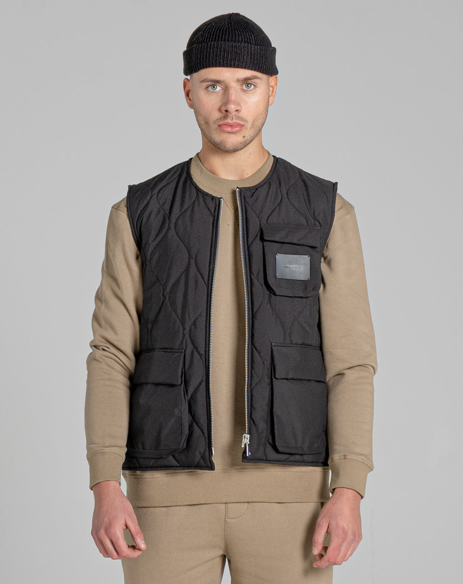 BELLFIELD VOLK UTILITY MEN'S GILET | BLACK