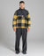 BELLFIELD STACKS SHERPA FLEECE FUNNEL NECK MENS JACKET | YELLOW