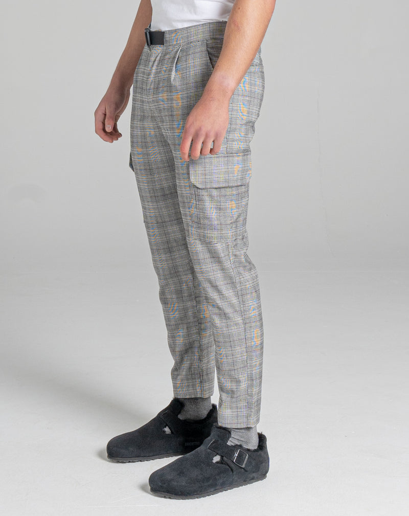 BELLFIELD KAUNAS CHECK TAILORED MEN'S TROUSER | FUDGE