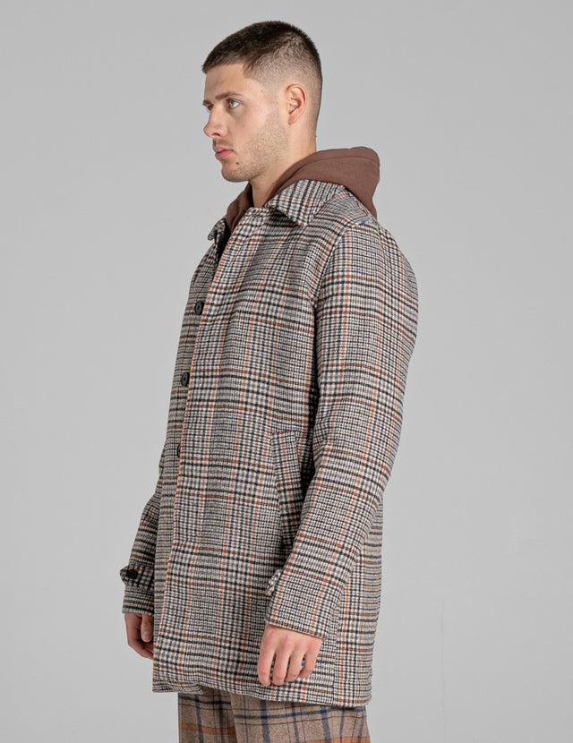 BELLFIELD HERBST CHECK UNISEX OVERCOAT | GREY