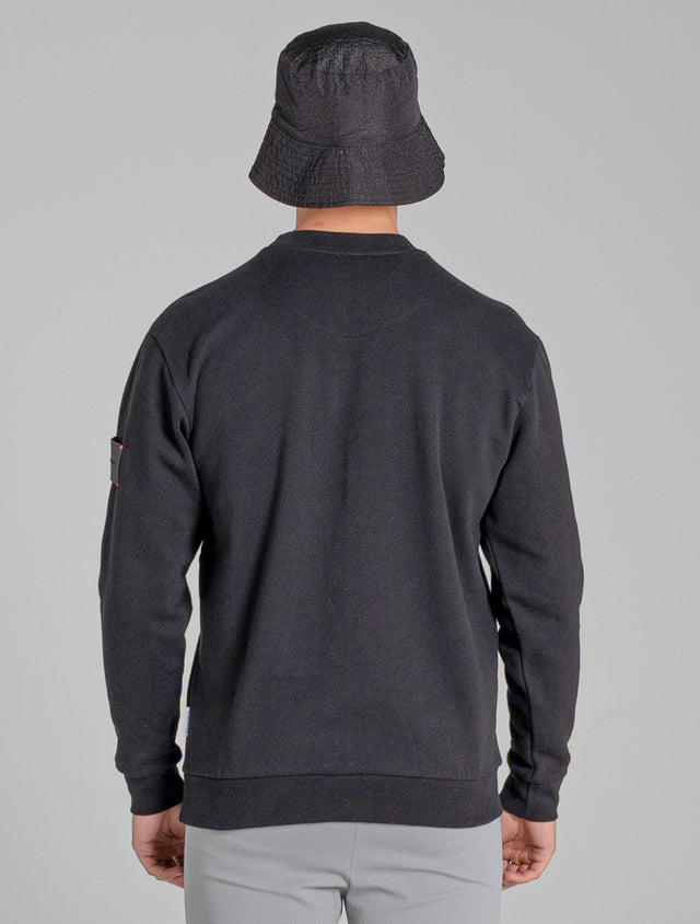 MALTE MENS SWEATSHIRT | BLACK