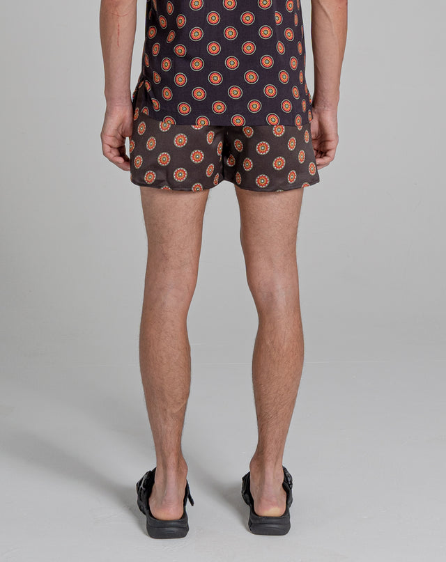 BELLFIELD SUTRA PRINT MENS SWIM SHORTS | BLACK