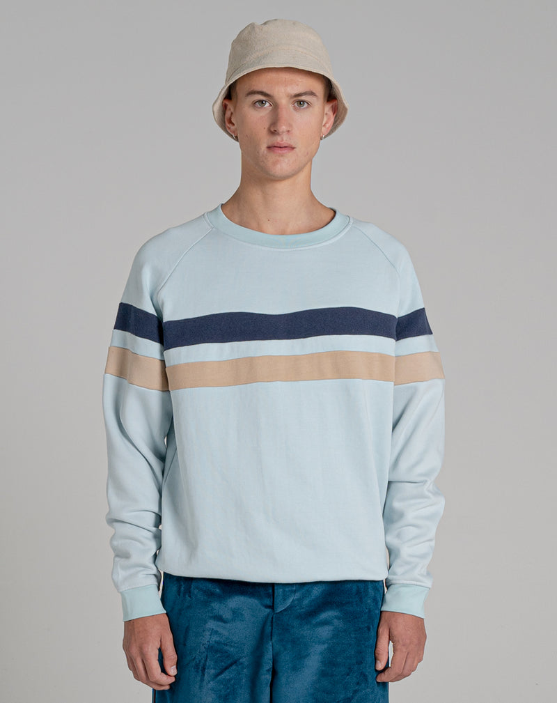 BELLFIELD DONOVAN MENS SWEATSHIRT | PALE BLUE