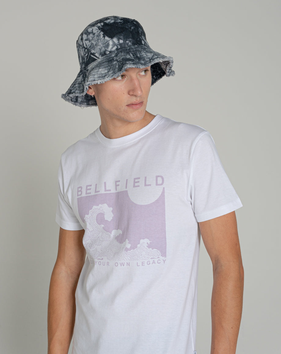 BELLFIELD TAD MENS ORGANIC T-SHIRT | WHITE