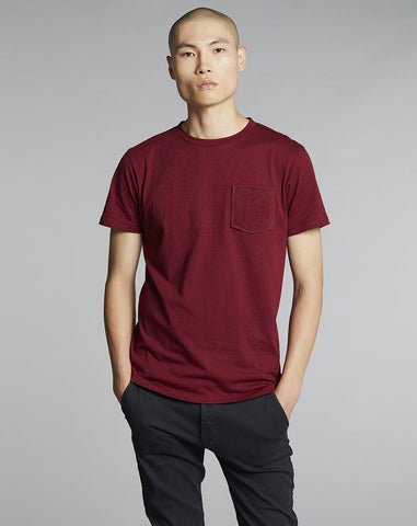 BELLFIELD ABALTO MENS T-SHIRT | CRIMSON