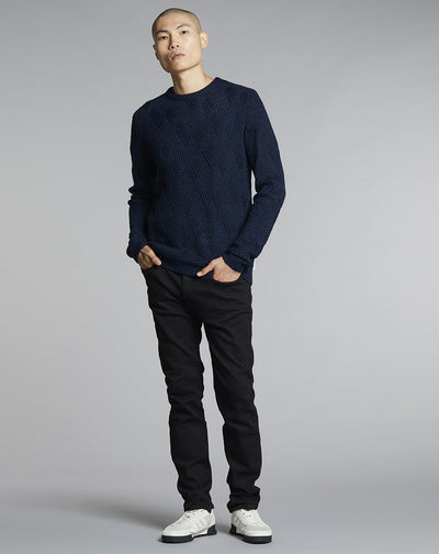 BELLFIELD AGI KNIT MENS JUMPER | NAVY