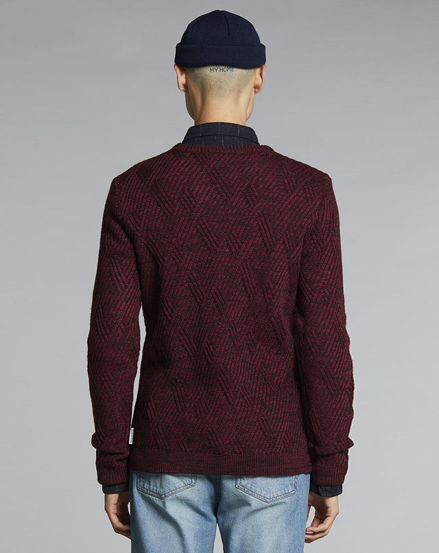 BELLFIELD AGI KNIT MENS JUMPER | PLUM