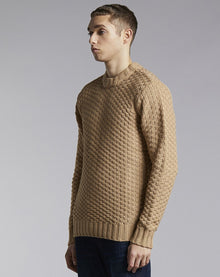 BELLFIELD ALROY KNIT MENS JUMPER | TAN