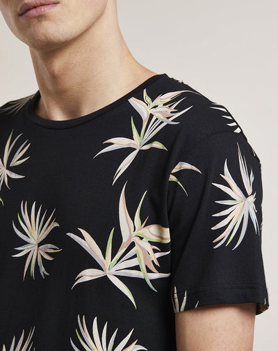 BELLFIELD ARVID PRINTED MENS T-SHIRT | BLACK