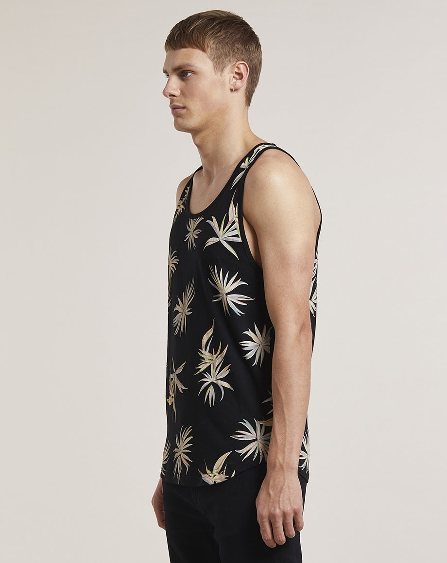BELLFIELD BERIT PRINTED MENS VEST | BLACK