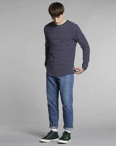 BELLFIELD BIKO LONG SLEEVE MENS T-SHIRT | NAVY