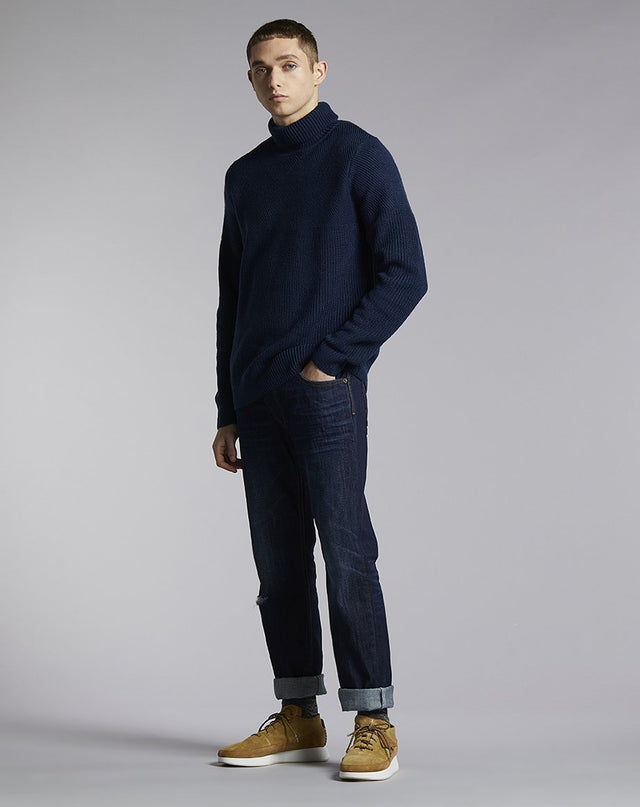 BELLFIELD BLANDA TEXTURED MENS SWEATER | NAVY