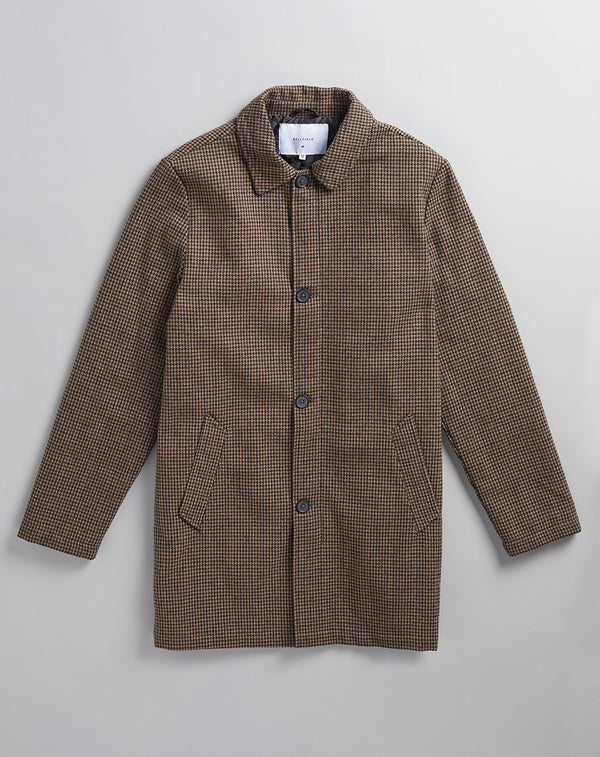 BELLFIELD BUCKHAN MENS OVERCOAT | HOUNDSTOOTH