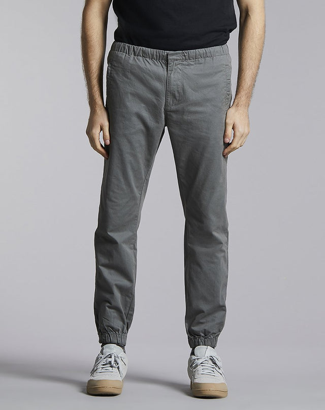 BELLFIELD CAVEN CUFFED MENS TROUSERS | GREY