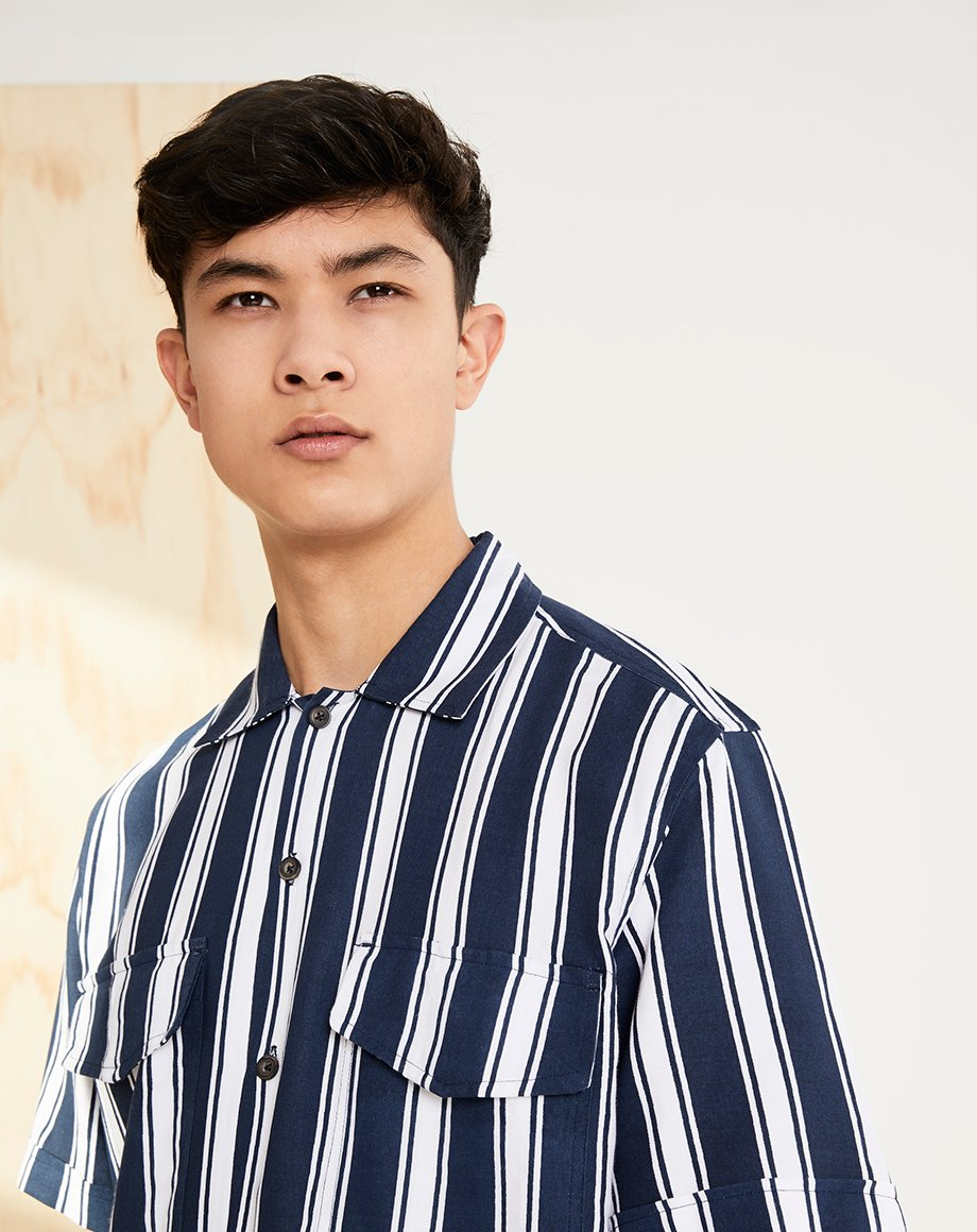 BELLFIELD COSENZA MENS SHIRT | NAVY