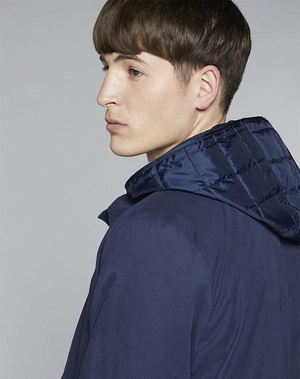 BELLFIELD DORI HOODED MEN'S MAC | NAVY