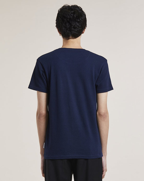BELLFIELD ENIN TEXTURED MENS T-SHIRT | NAVY