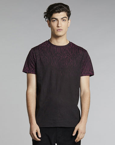 BELLFIELD ESTON PRINT MENS T-SHIRT | BURGUNDY