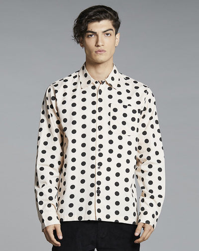 BELLFIELD FRESCO PRINT MENS SHIRT | PINK