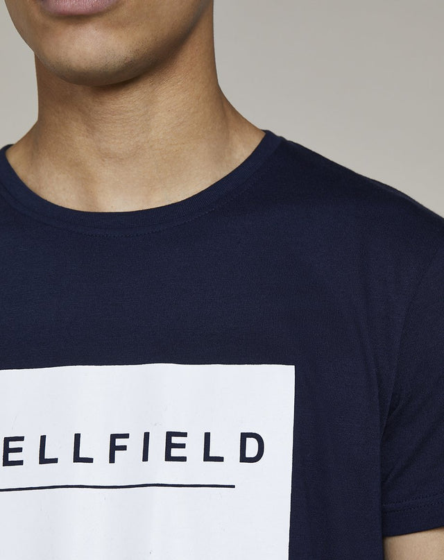 BELLFIELD GOLOF BRAND CARRIER MENS T-SHIRT | NAVY