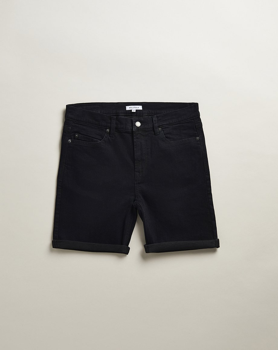 BELLFIELD HEROICA DENIM MENS SHORTS | BLACK