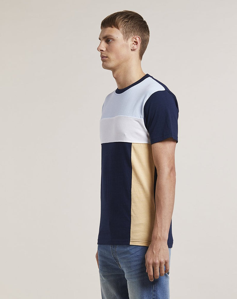BELLFIELD INGOLF CUT AND SEW MENS T-SHIRT | NAVY