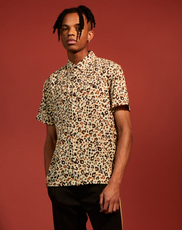 BELLFIELD INTERIOR PRINT MENS SHIRT | LEOPARD