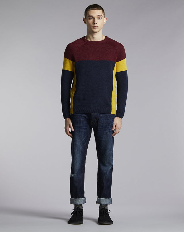 BELLFIELD JIKEN BLOCK MENS JUMPER | NAVY