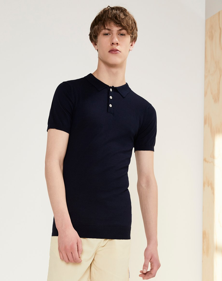 BELLFIELD KAE POLO KNIT | NAVY