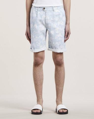 BELLFIELD KAILUA PRINTED MENS SHORTS | POWDER BLUE