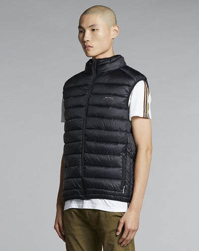 BELLFIELD KILO FUNNEL NECK MENS GILET | BLACK
