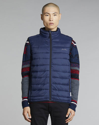 BELLFIELD KILO FUNNEL NECK MENS GILET | NAVY