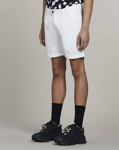 BELLFIELD KOWALSKI CHINO MENS SHORTS | WHITE