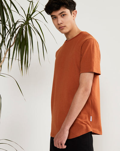 BELLFIELD LAIDLEY MENS T-SHIRT | TOBACCO