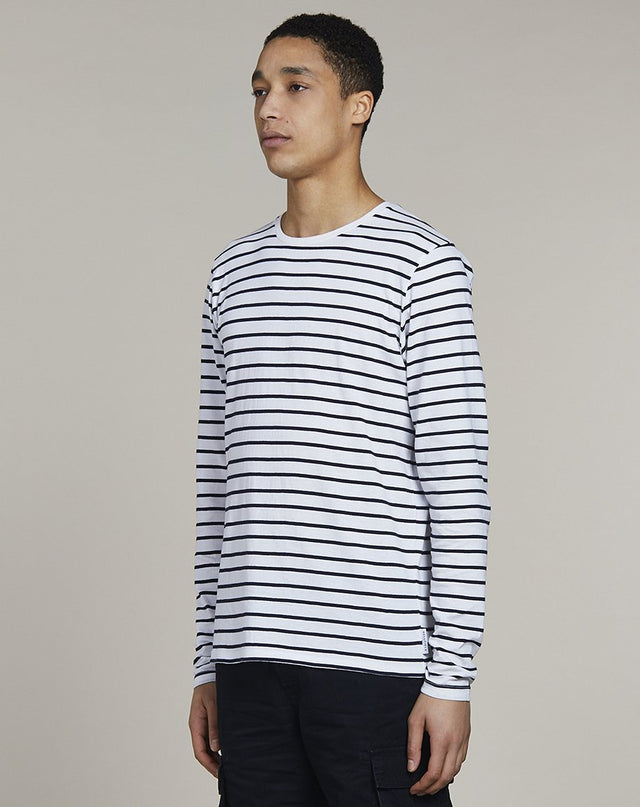 BELLFIELD LINN LONG SLEEVE MENS T-SHIRT | WHITE