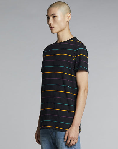 BELLFIELD MARGERA STRIPED MENS T-SHIRT | BLACK